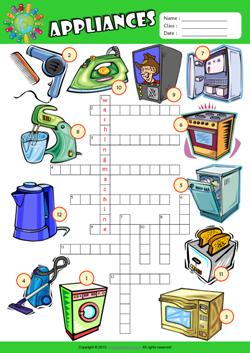 Appliances Esl Printable Worksheets For Kids 1