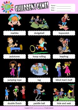 Children Games ESL Printable Worksheets For Kids 1