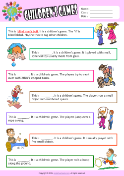 Children Games Find the Words ESL Vocabulary Worksheet