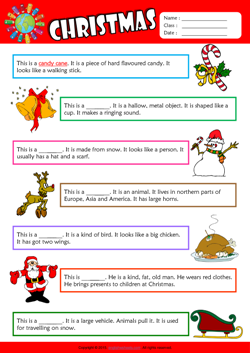 Christmas Find the Words ESL Vocabulary Worksheet