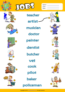 Jobs ESL Printable Worksheets For Kids 1