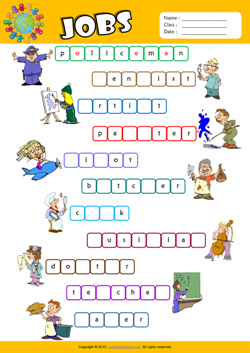 Jobs Esl Printable Worksheets For Kids 2