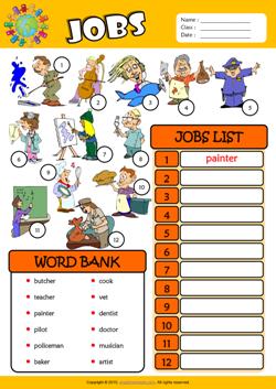 Jobs Esl Printable Worksheets For Kids 3