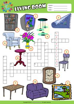 Living Room Furniture Vocabulary living room esl printable worksheets for kids 1