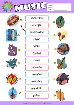 Instrument Worksheets For Kindergarten