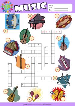 musical instruments esl printable worksheets for kids 1. Black Bedroom Furniture Sets. Home Design Ideas
