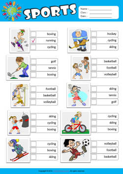 sports esl printable worksheets for kids 2. Black Bedroom Furniture Sets. Home Design Ideas
