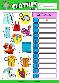 Summer clothes esl printable worksheets for kids 3 ibookread Read Online
