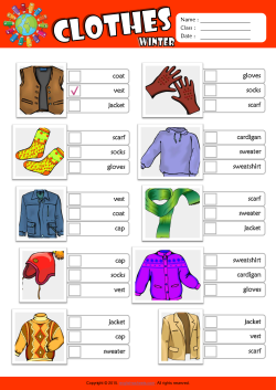 Winter Clothes ESL Multiple Choice Worksheet For Kids