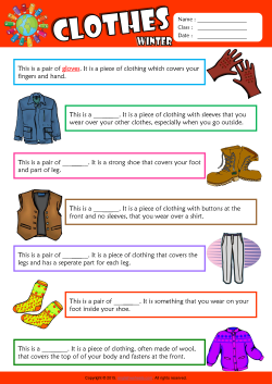 Winter Clothes Find the Words ESL Vocabulary Worksheet
