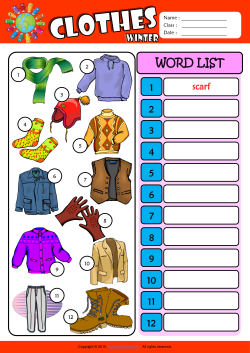 4cb5e5e4540 Winter Clothes ESL Printable Worksheets For Kids 3